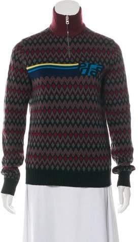 208a6908deb 2018 Virgin Wool Logo Intarsia Sweater