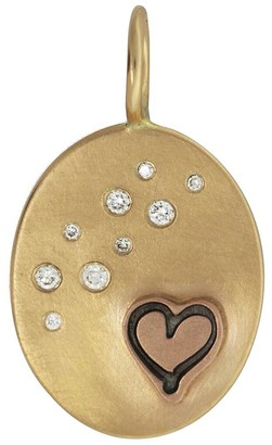 Heather B. Moore Heart and Stars Charm - Yellow Gold