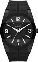 JCPenney RELIC Relic Mens Black Silicone Strap Watch ZR11972