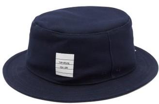 Thom Browne Logo-patch Canvas Bucket Hat - Navy