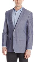 Perry Ellis Men's Chambray Two Button Sport Coat