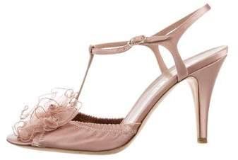 Chanel Camellia T-Strap Pumps