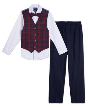 Nautica Baby Boys Plaid Vest Set