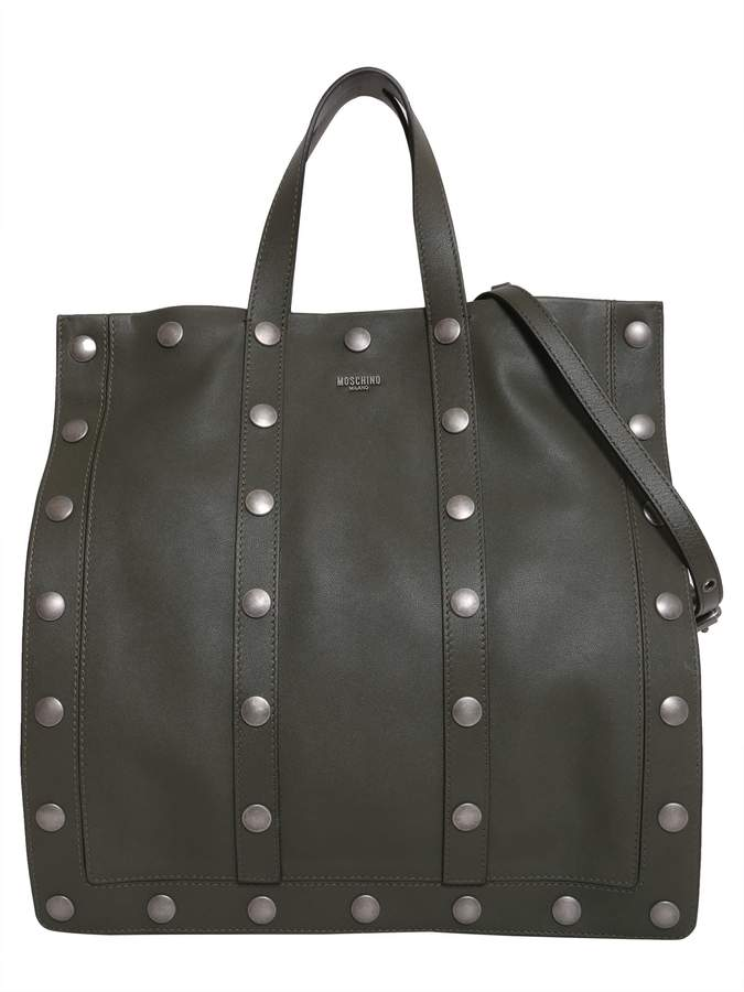 Moschino Leather Shopping Bag