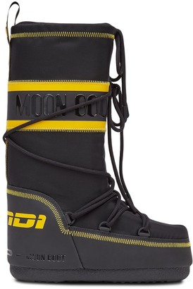 Fendi Logo Striped Moon Boots