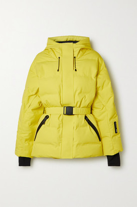 Ienki Ienki Sheena Hooded Belted Quilted Down Ski Jacket - Yellow