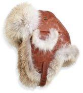 Crown Cap Paul Leinburd Coyote Fur Aviator Hat