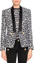 Balmain Leopard-Print Tuxedo Blazer