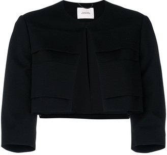 Schumacher Dorothee three-quarter sleeves cropped jacket
