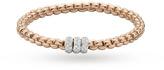 Fope 18ct Rose Gold Exclusive Flex'It Olly 0.50ct Diamond Bracelet