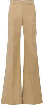 Prada Flared Poplin Trousers