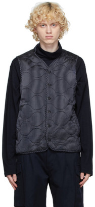 tss Navy Cupro Quilted Vest