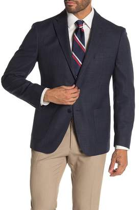 Tommy Hilfiger Weave Blue Two Button Performance Fit Suit Separate Sport Coat