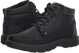 Skechers Relaxed Fit Segment Garnet (Black) Men's Boots