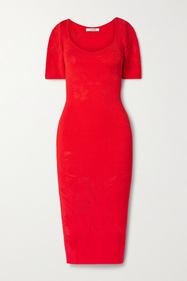 Cushnie Floral-jacquard Midi Dress - Red