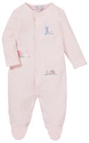 John Lewis Bunny Rabbits Sleepsuit, Pink