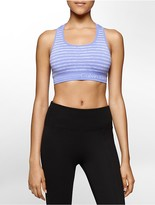 Calvin Klein Performance Striped Space Dye Sports Bra