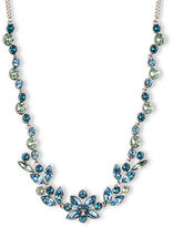 Givenchy Aqua and Light Sapphire Tone Crystal Collar Necklace