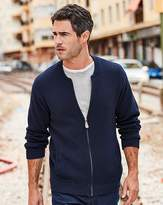 W&B Navy Knitted Bomber R