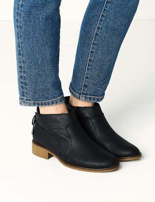 Marks and Spencer Tie Back Block Heel Ankle Boots