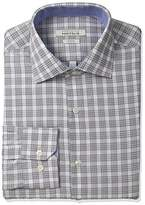 Perry Ellis Men's Slim-Fit Wrinkle-Free Glen-Plaid Dress Shirt