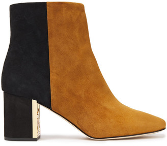 Tory Burch Gigi 70 Two-tone Suede Ankle Boots