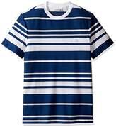 Lacoste Men's Textured Waffle Stripe T-Shirt