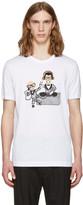 Dolce & Gabbana White Designers DJ T-Shirt