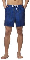 Maine New England Big And Tall Blue Gingham Check Shorts