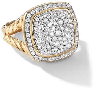 David Yurman 18kt yellow gold Albion diamond ring