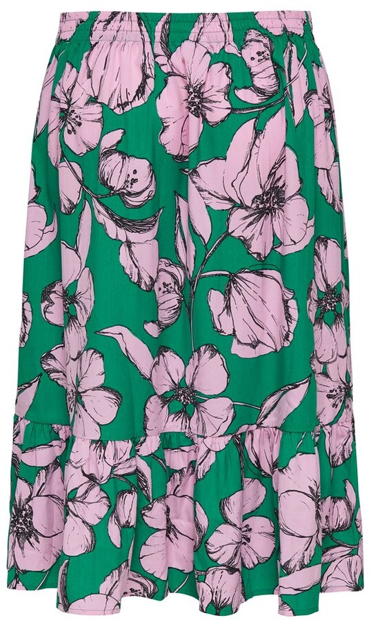 Thumbnail for your product : M&Co JDY floral frill skirt