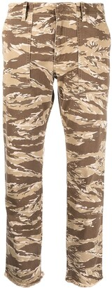 Nili Lotan Camouflage Print Cropped Trousers