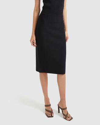 SABA Women's Black Midi Skirts - Amara Milano Midi Skirt - Size One Size, L at The Iconic
