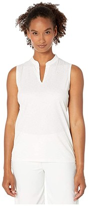 Nike Dry Polo Sleeveless Victory Blade Print (Sail/Pure Platinum) Women's Clothing