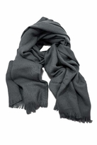 LoveQuotes Scarves Love Quotes Rayon Eyelash Fringe Scarf in Graphite