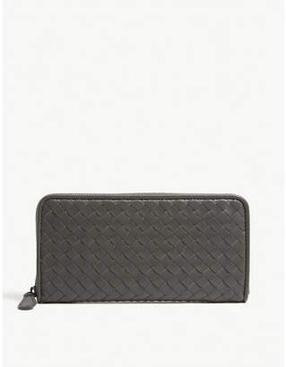 Bottega Veneta Intrecciato woven leather zip purse