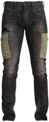 PRPS Windsor Distressed Denim Cargo Jeans