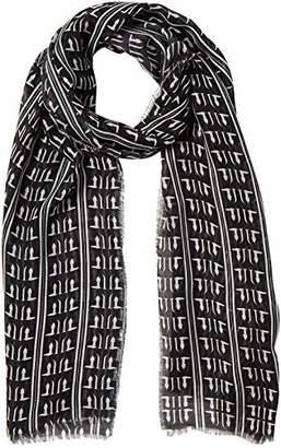 Trussardi Jeans Women's Pashmina Print Monogram All Over Micromodal Black (K308-Black/White K308)