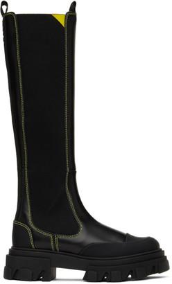 Ganni Black High Chelsea Boots