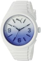 Puma Unisex PU103592009 Gummy fading white blue Analog Display Watch