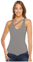 LnA Stripe V Single Cross Tank Top Women's Sleeveless