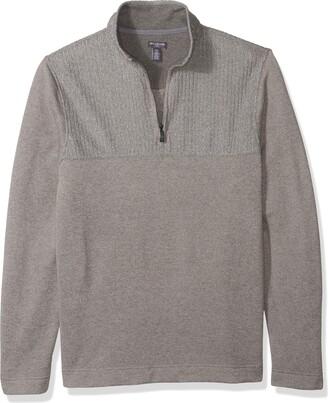 Van Heusen Men's Size Big and Tall Flex 1/4-zip Solid Sweater