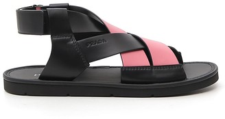 Prada Woven Crossover Sandals