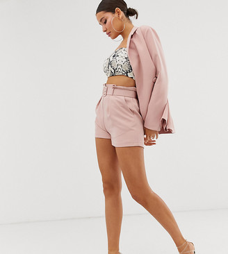 Outrageous Fortune paper bag waist short in pink