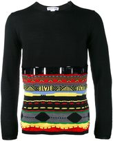 Comme des Garcons pattern embroidered jumper - men - Acrylic/Wool - XL