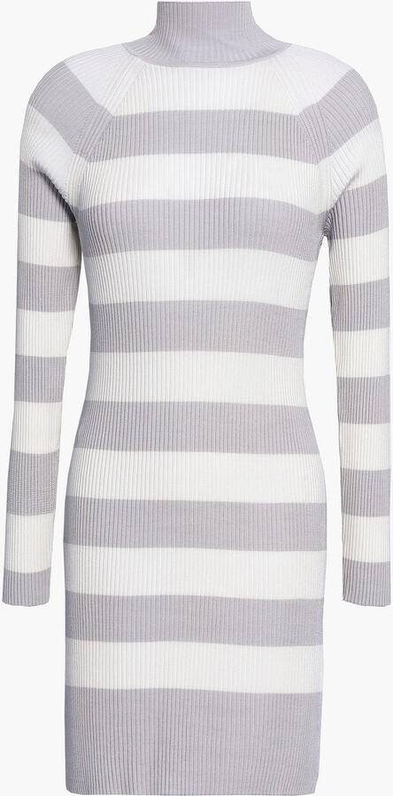 Zimmermann Whitewave Striped Ribbed-knit Mini Dress