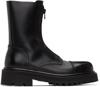 Vetements Black Zip-Up Ankle Boots