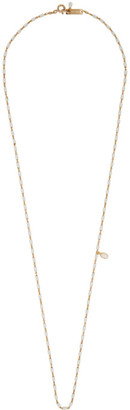 Isabel Marant Gold and White Casablanca Necklace