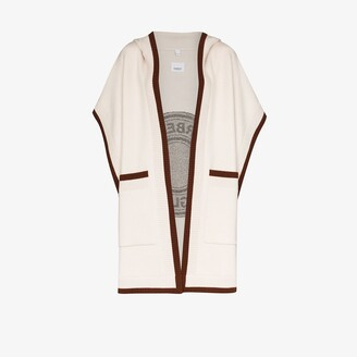 Burberry Carla logo knit hooded cape