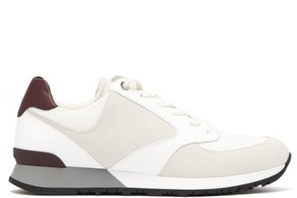 John Lobb Foundry Suede, Mesh And Leather Trainers - White